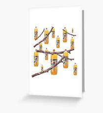 Fanta Stick Fantastic Collage Print Greeting Card