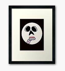 Zombie Smiley Face  Framed Print