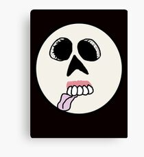 Zombie Smiley Face  Canvas Print