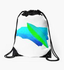 Carolina surfboard Drawstring Bag
