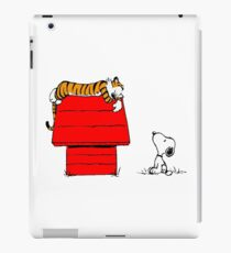 Geek Calvin And Hobbes Tiger Sleep On Doghouse iPad Case/Skin