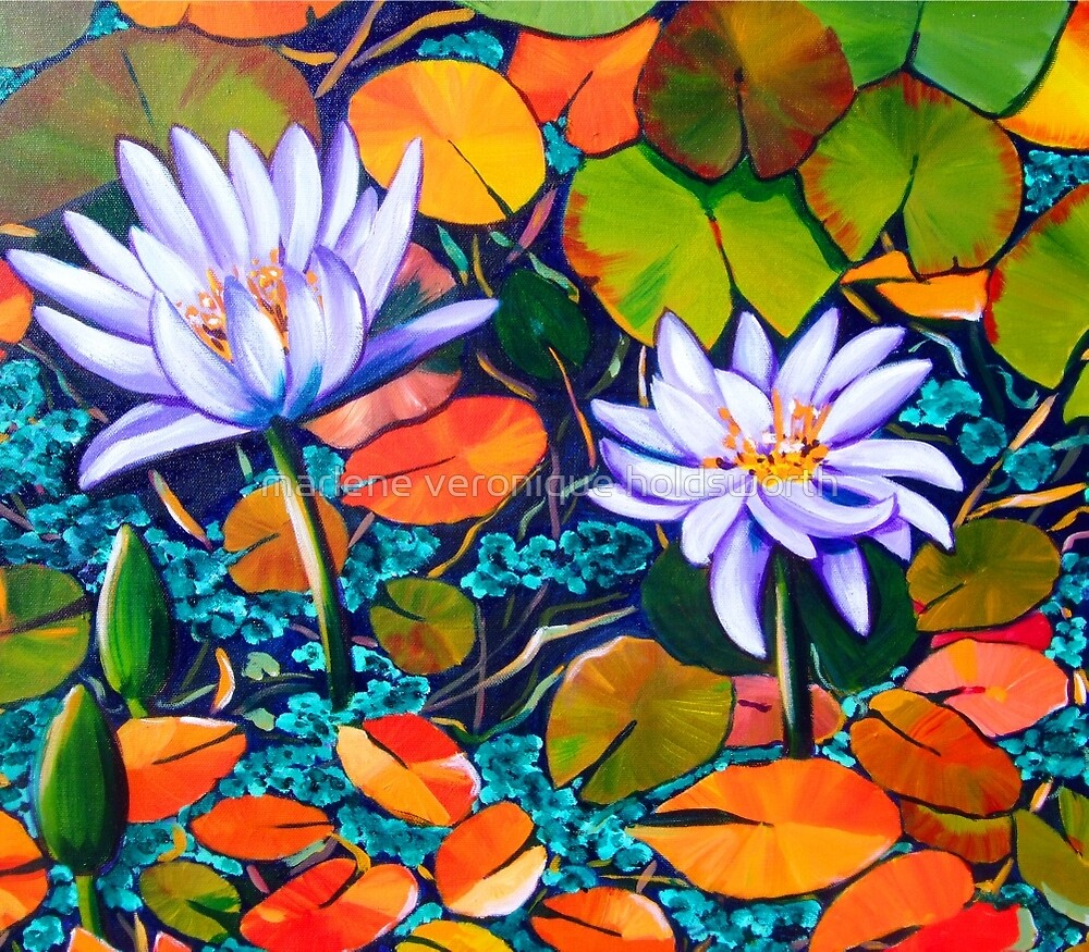 Waterlilies by marlene veronique holdsworth