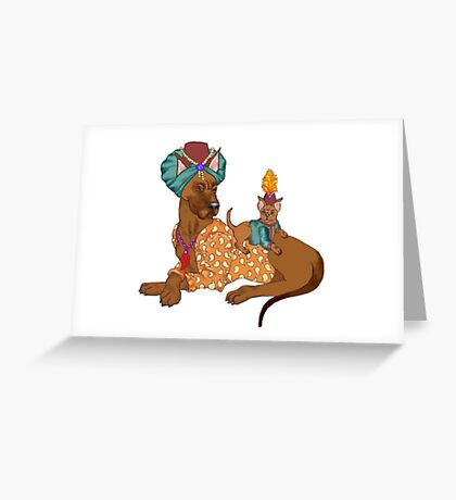 Sultan's Bodyguard Greeting Card