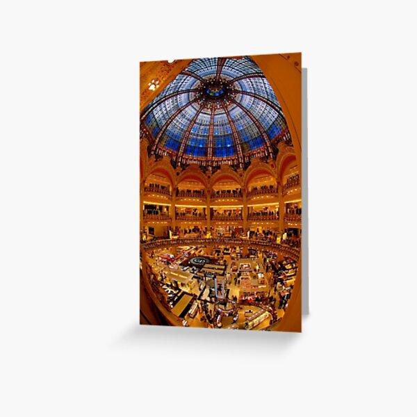 Galeries Lafayette, Paris Greeting Card