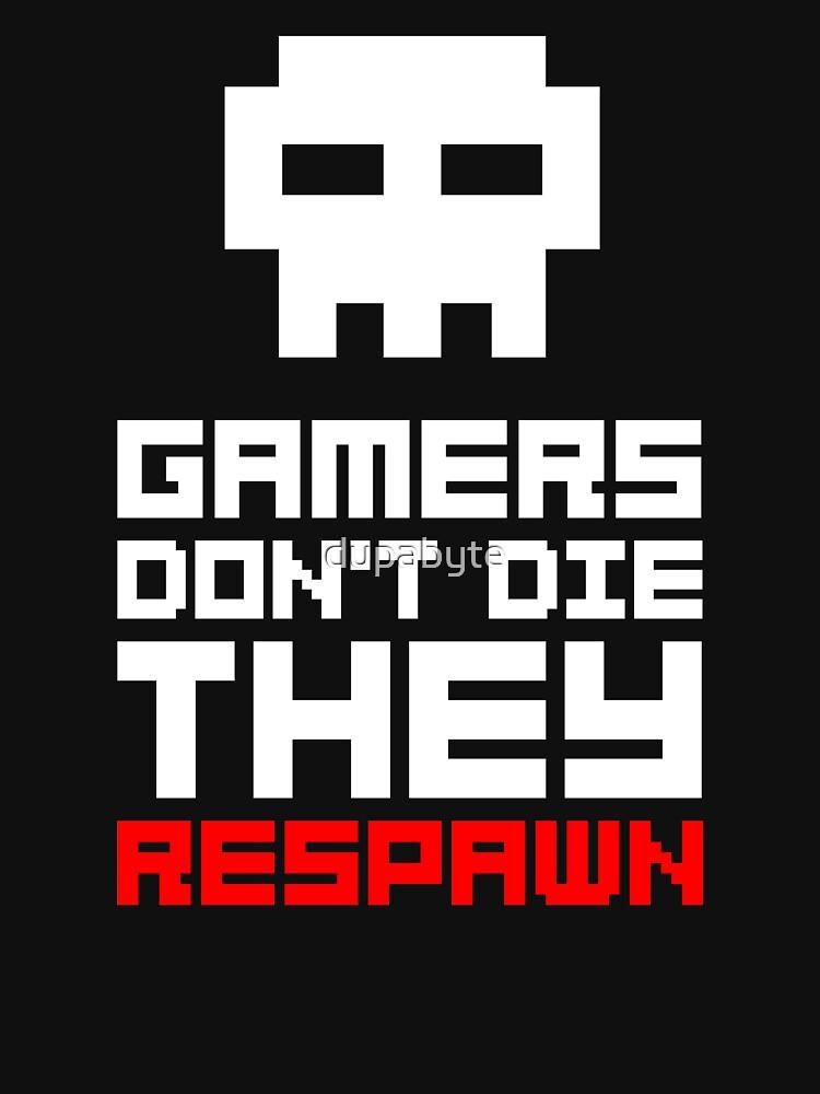 Pixel Skull Gamers Don't Die | Unisex T-Shirt