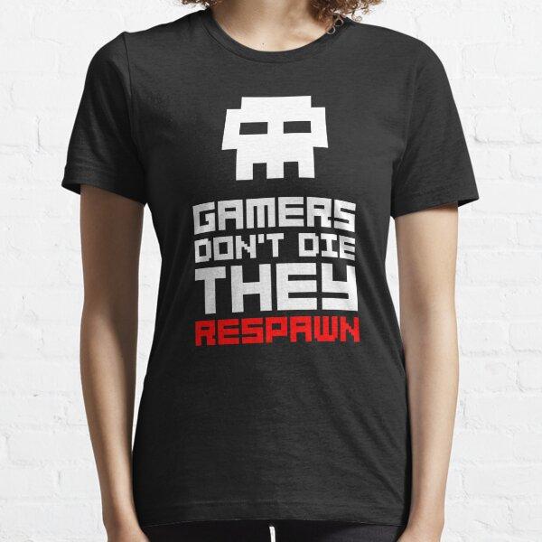 Pixel Skull Gamers Don't Die Camiseta esencial
