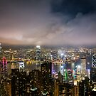 Hong Kong city at night by SteveHphotos