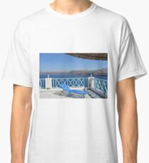 Sun lounge chair in Santorini, Greece Classic T-Shirt