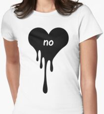 Bloody Heart Womens Fitted T-Shirt