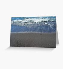 Waves at the beach on the sea shore Greeting Card