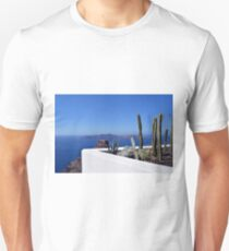 Cacti in Santorini, Greece Unisex T-Shirt
