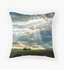 Morning cloud(s) over the Swabian Hills Throw Pillow