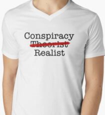 Conspiracy Realist Men's V-Neck T-Shirt