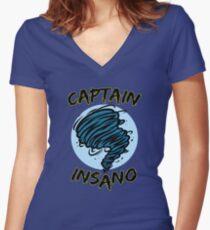 Captain Insano Women's Fitted V-Neck T-Shirt