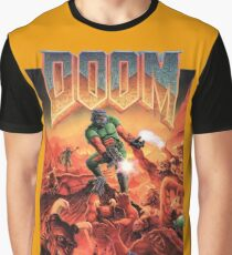 Doom - 1993 Poster PC FPS  Graphic T-Shirt