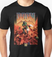 Doom - 1993 Poster PC FPS  Unisex T-Shirt