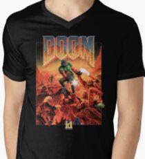Doom - 1993 Poster PC FPS  Men's V-Neck T-Shirt