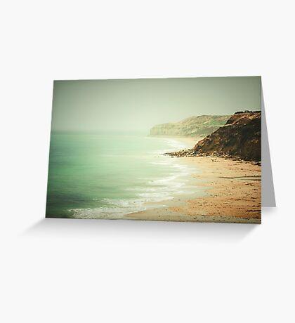 pastel green haze Greeting Card