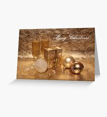 Merry Christmas in Gold Greeting Card