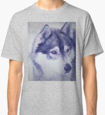 Beautiful husky dog portrait Classic T-Shirt