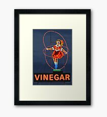 Skipping Girl Vinegar • Melbourne • Victoria Framed Print