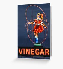 Skipping Girl Vinegar • Melbourne • Victoria Greeting Card