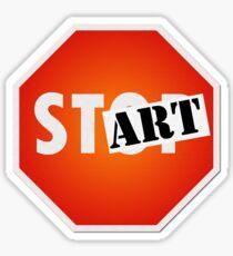 STOP/Start/ART Sticker