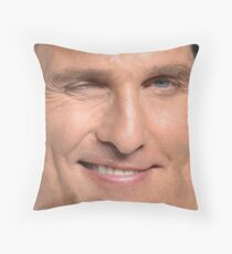Matthew McConaughey Face Throw Pillow Throw Pillow