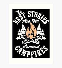 Campfire Stories Art Print