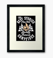 Campfire Stories Framed Print