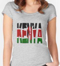 Kenya flag Women's Fitted Scoop T-Shirt