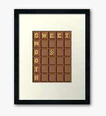 Sweet and smooth chocolate design Framed Print