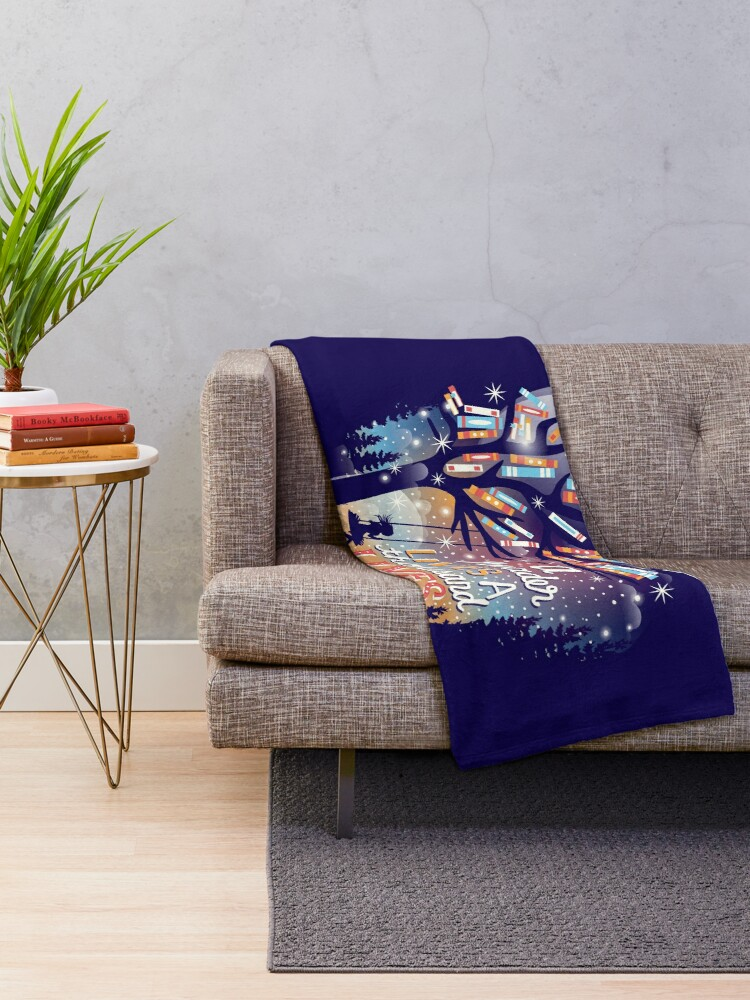 Alternate view of Thousand lives Throw Blanket