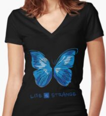 LIFE IS STRANGE - BUTTERFLY Women's Fitted V-Neck T-Shirt