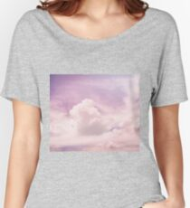Pink fluffy clouds Women's Relaxed Fit T-Shirt