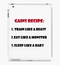 Gains Recipe iPad Case/Skin