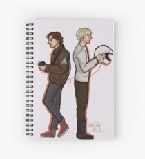 Red string of fate Spiral Notebook