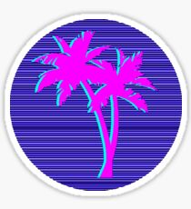 Palms Vaporwave Sticker
