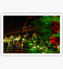 Outdoor Christmas decoration in Strasbourg, Alsace,  France Sticker