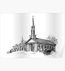 New England Snow Scene Poster