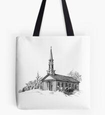 New England Snow Scene Tote Bag