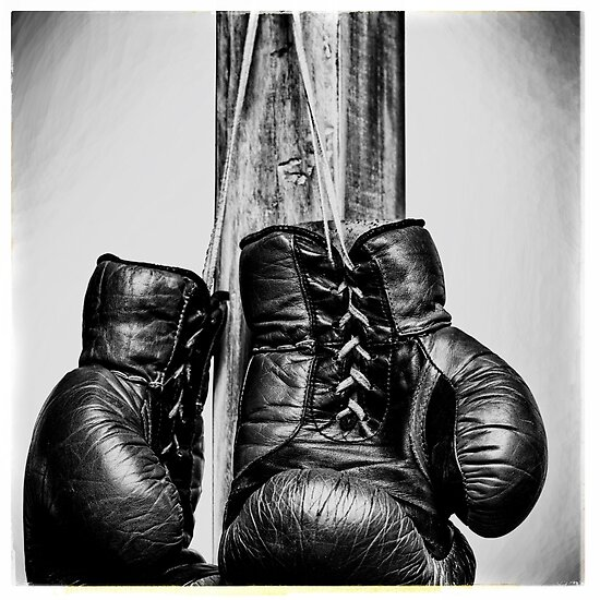 """Shiv Naresh Teens Boxing Gloves 12oz: """"Vintage Boxing Gloves"""" Posters By DimDom"""