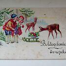Very  old Christmas card by Ana Belaj