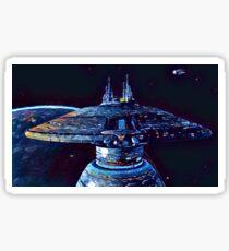 Galaxy class Docking at Starbase Sticker