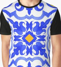 Portuguese azulejo tiles. Blue and white gorgeous seamless patterns. Graphic T-Shirt