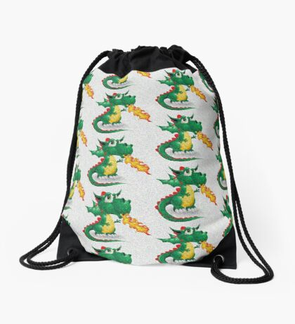 Texture dots look for Draco the Dragon pattern Drawstring Bag