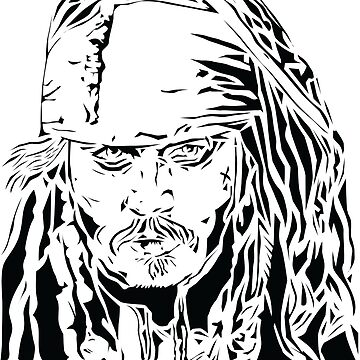Jack Sparrow - Stencil by Digitize
