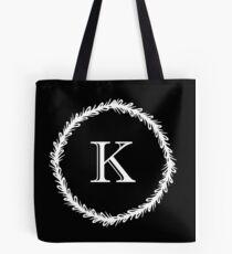 Monochrome Monogram K Tote Bag