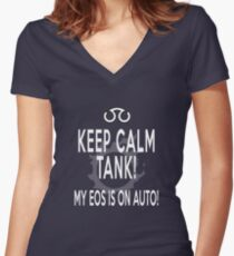 Thank you, Eos - black version Women's Fitted V-Neck T-Shirt