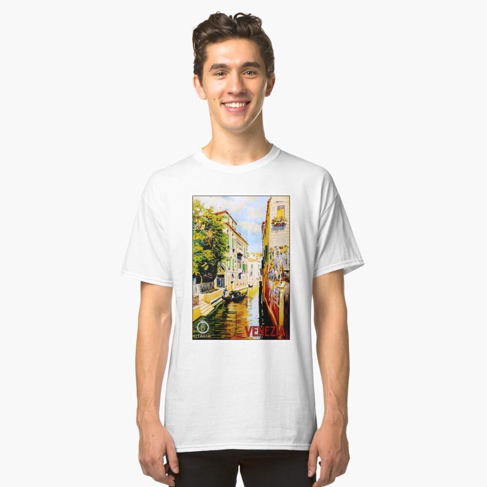 Venedig-Kanäle; Vintage Reise Werbung drucken Classic T-Shirt
